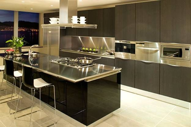 Stainless Steel Kitchen Cotton Towels 100 Plus 25 Contemporary Design Ideas Modern Kitchens Countertop