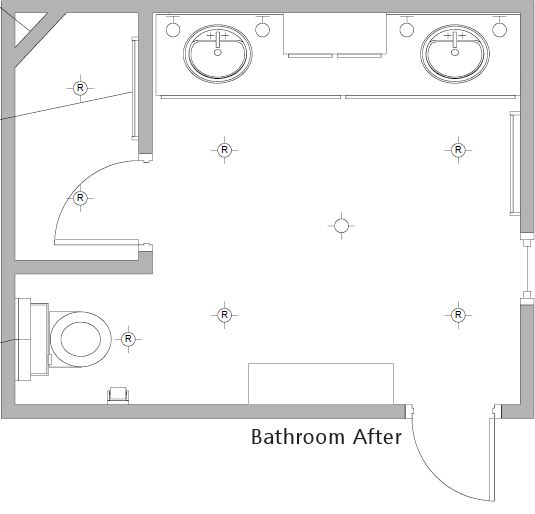 my moms bathroom remodel before after - Bathroom Remodel Layout