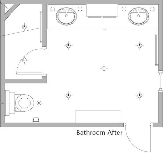 my moms bathroom remodel before after - Bathroom Remodel Layout