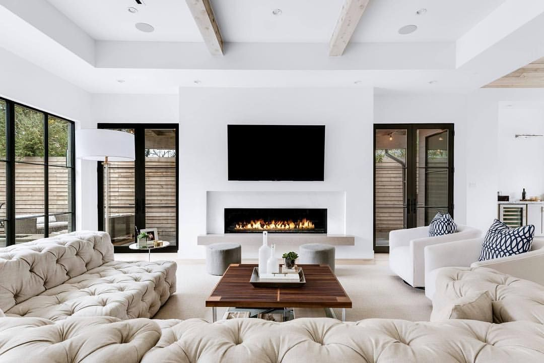 10+ Top White Living Room With Fireplace