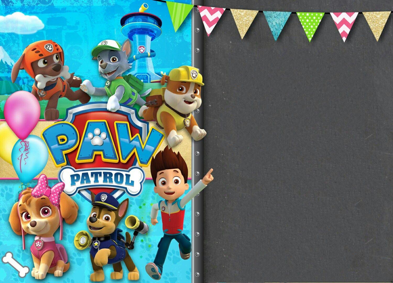 Plantilla Invitación Paw Patrol Invitacion Cumpleaños