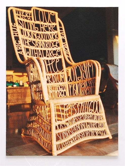 inspiration design master chairs. Sagmeister design  details through link Talkative Chair Type chair by Stefan Why not just a I m