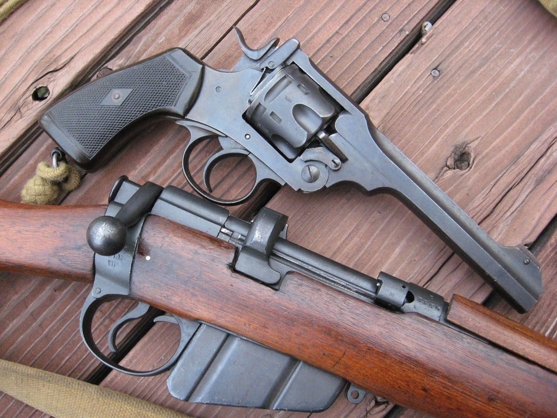 Shooting vintage webley revolvers