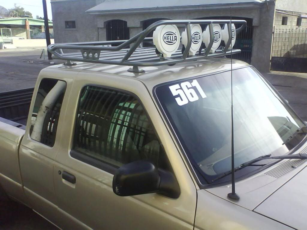 medium resolution of light bar and roof rack on ford ranger