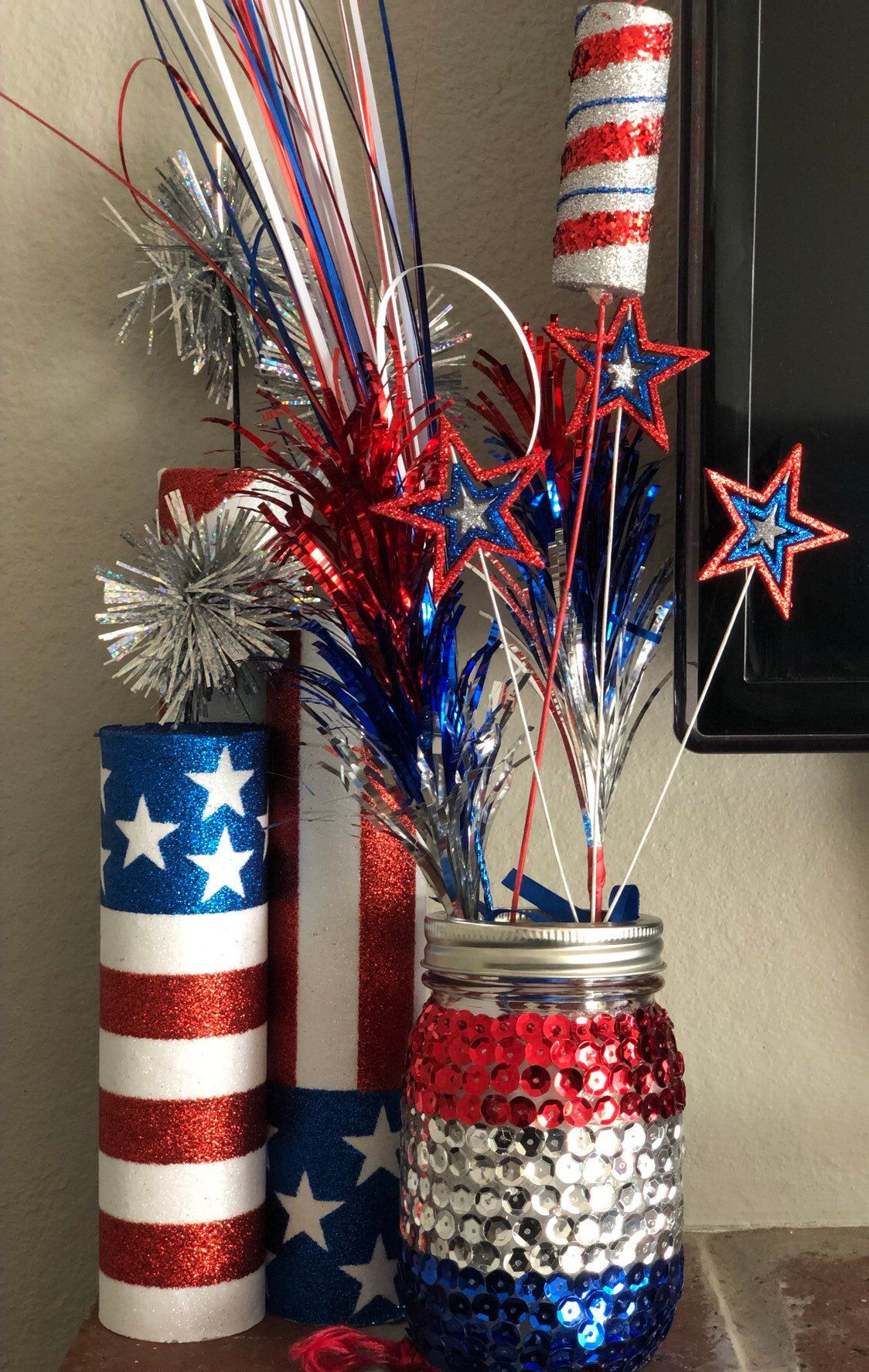 Centerpiece Party Birthday 4th Of July Etsy In 2020 Fourth Of July Crafts For Kids 4th Of July Decorations 4th Of July