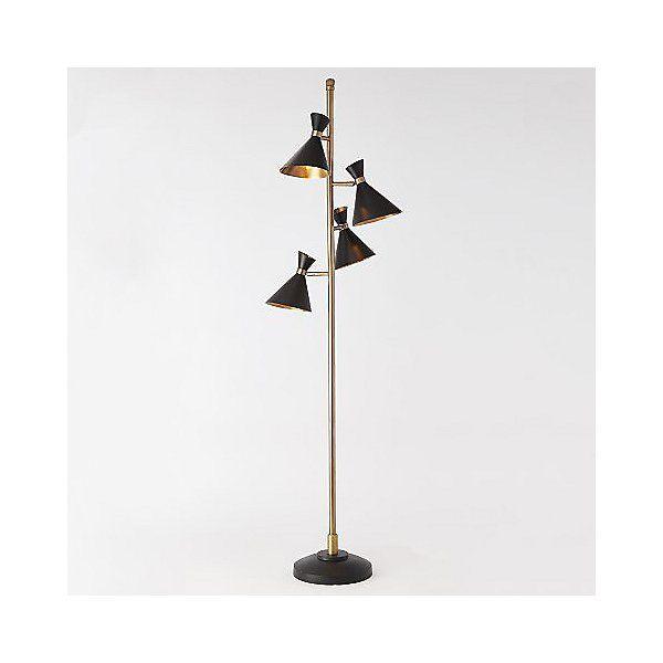 Global Views Cone Multi Light Floor Lamp In Black Multi Light