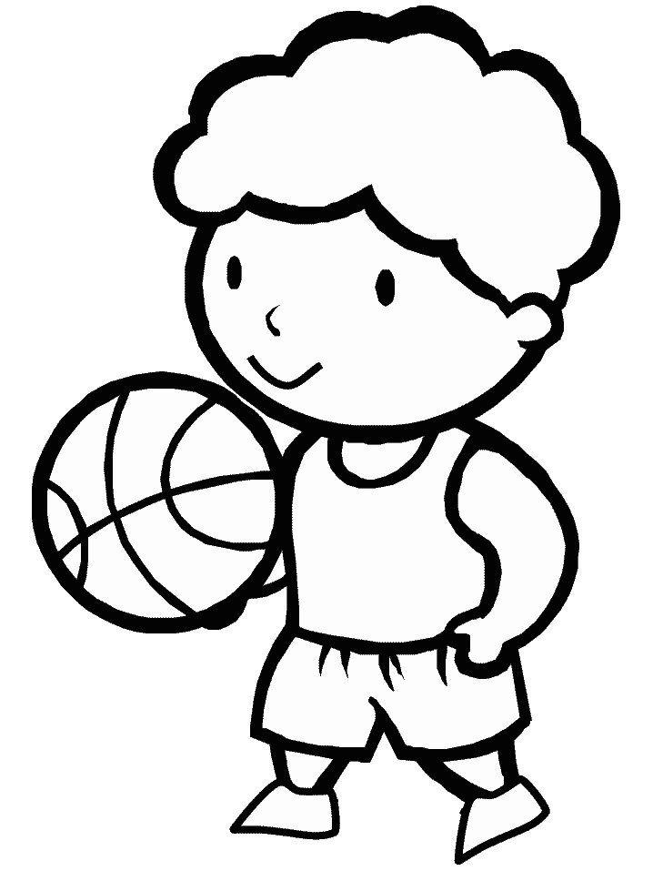 Dibujos para pintar de baloncesto. Dibujos para colorear de ...