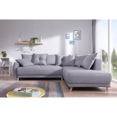 lena canap scandinave d angle droit gris clair 236x90x203cm achat vente - Canape Scandinave Solde