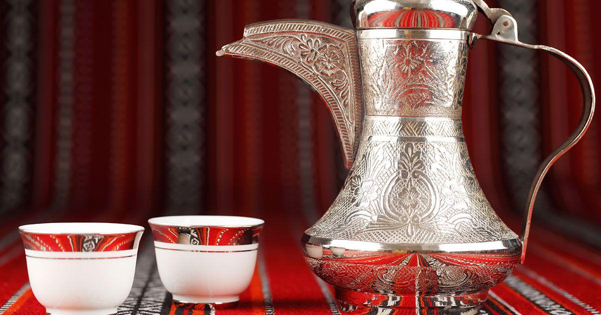 وصفة قهوة سعودية Recipe Sweet Coffee Glassware Tableware