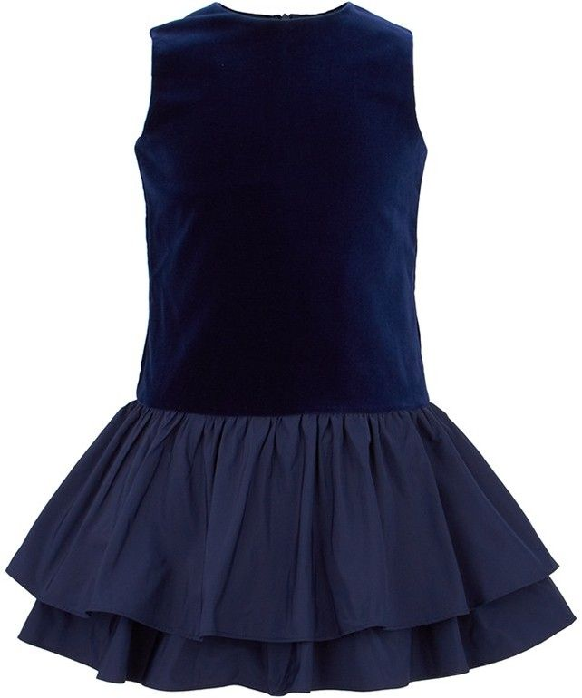 1440f47be2 Il Gufo Navy Velvet Dress on shopstyle.co.uk | Girls wear | Navy ...
