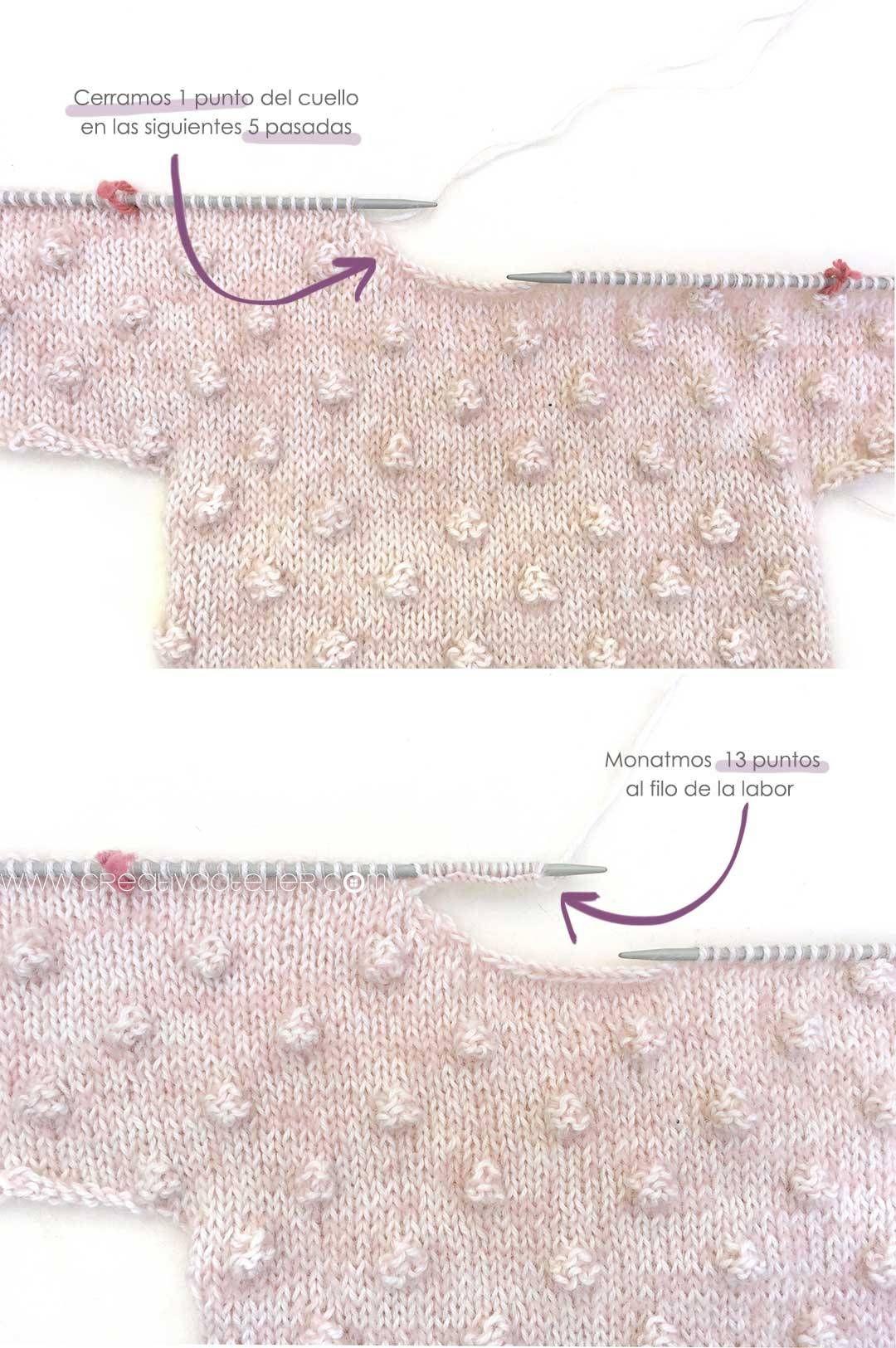 Jersey de Punto POPCORN para Bebé - [ Tutorial y patrón ]   Cosas ...