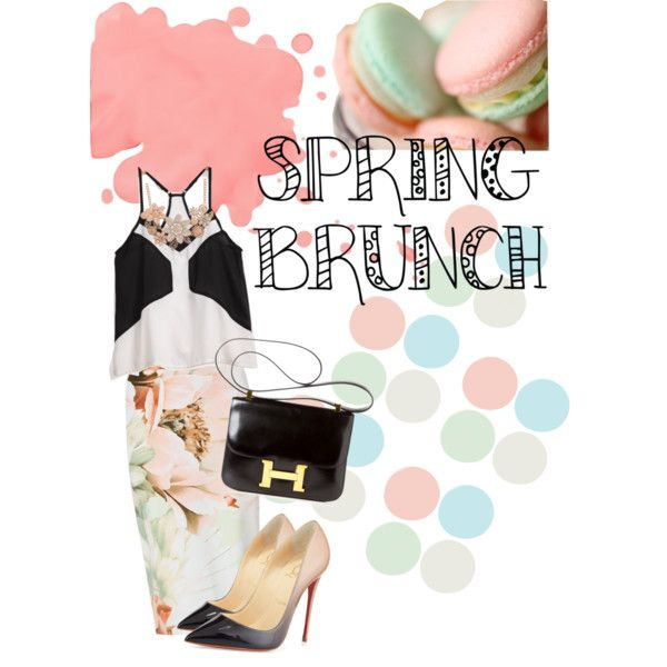 Soft Spring by fanny-octa-febrina on Polyvore featuring polyvore, fashion, style, Christian Louboutin and Hermès
