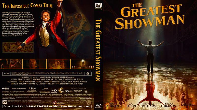 The Greatest Showman Blu Ray Custom Cover The Greatest Showman Greatful Movie Covers