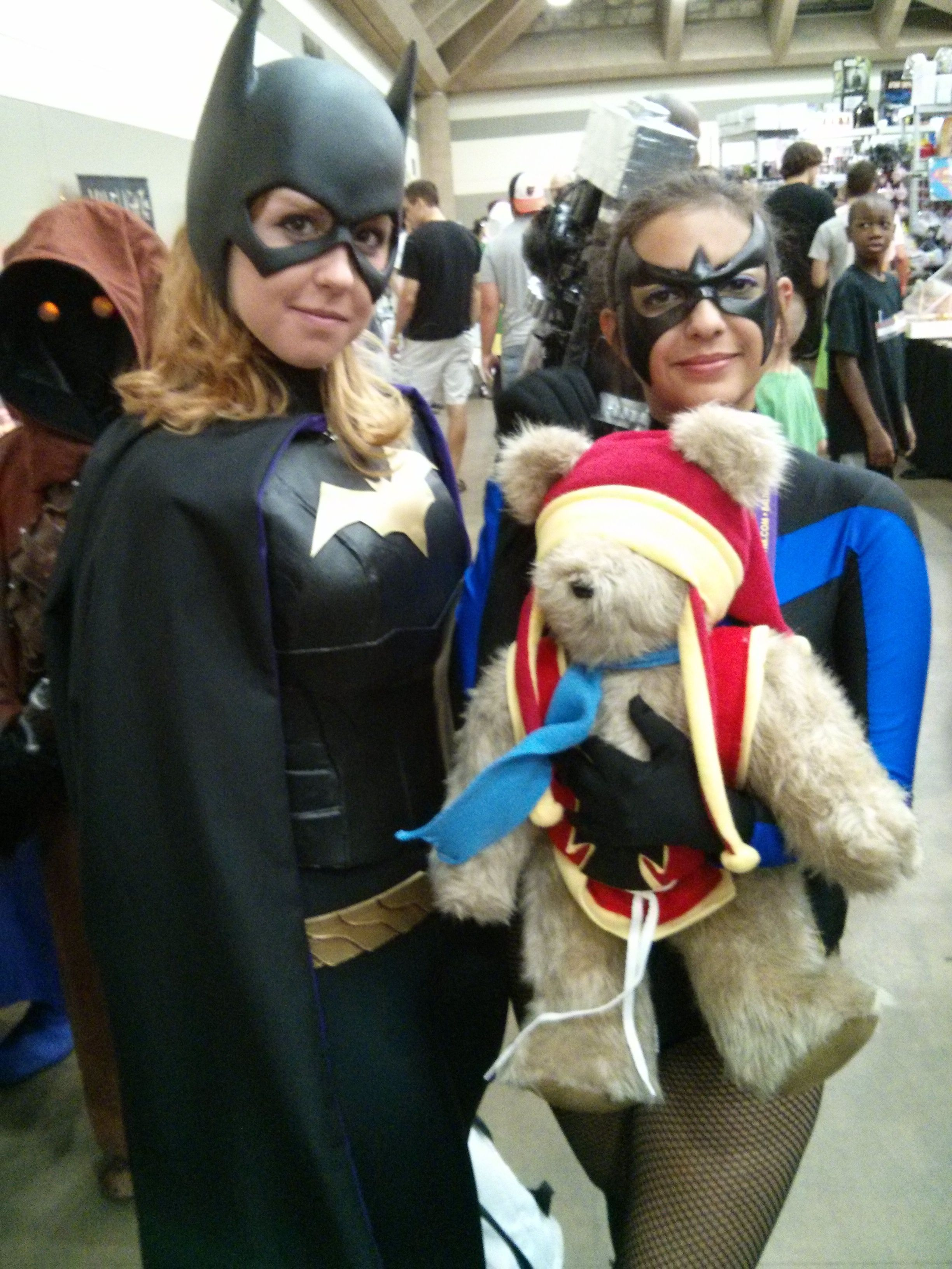 Tristan the Teddy Bear meets Shredder at Sci-Fi in the Valley Con ...