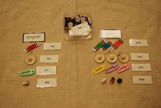 1000+ images about montessori grammar on Pinterest | Singular and ...