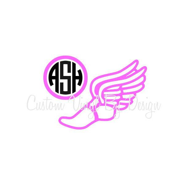 Track And Field Track And Field Car Decal Track And Field Vinyl - Monogrammed custom vinyl decals for car