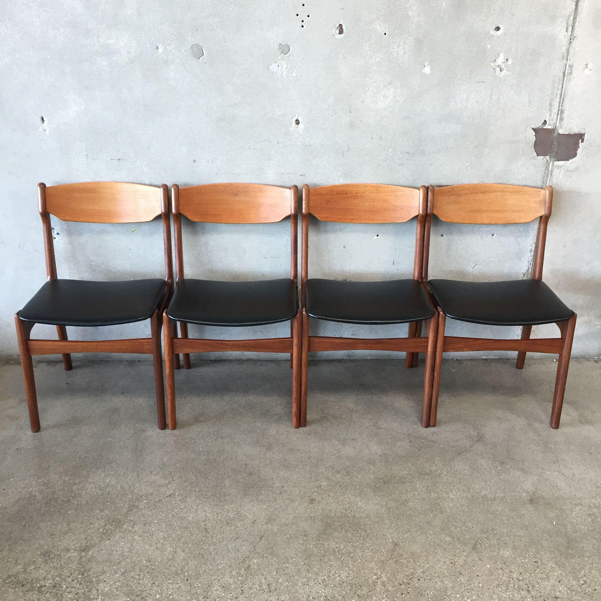 Mid Century Modern Teak Dining Chairs Teak Dining Chairs Dining Chairs Chair