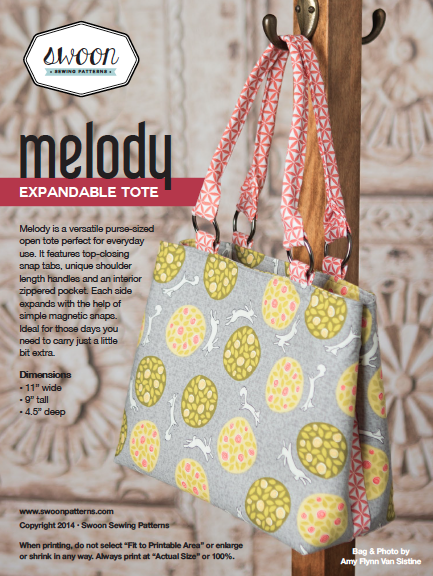 8c11bdce2e48 Swoon Sewing patterns  5.95 Melody expandable tote