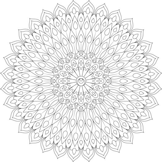Youthful Inspiration Coloring Page   Mandala coloring ...