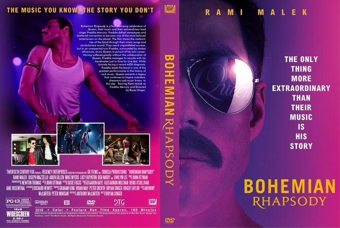 Bohemian Rhapsody 2018 Dvd Custom Cover Dvd In 2019 Pinterest