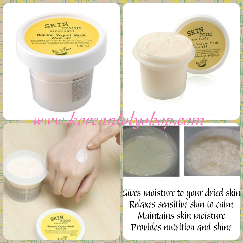 The Skin Food Banana Yogurt Mask Wash Off adalah masker