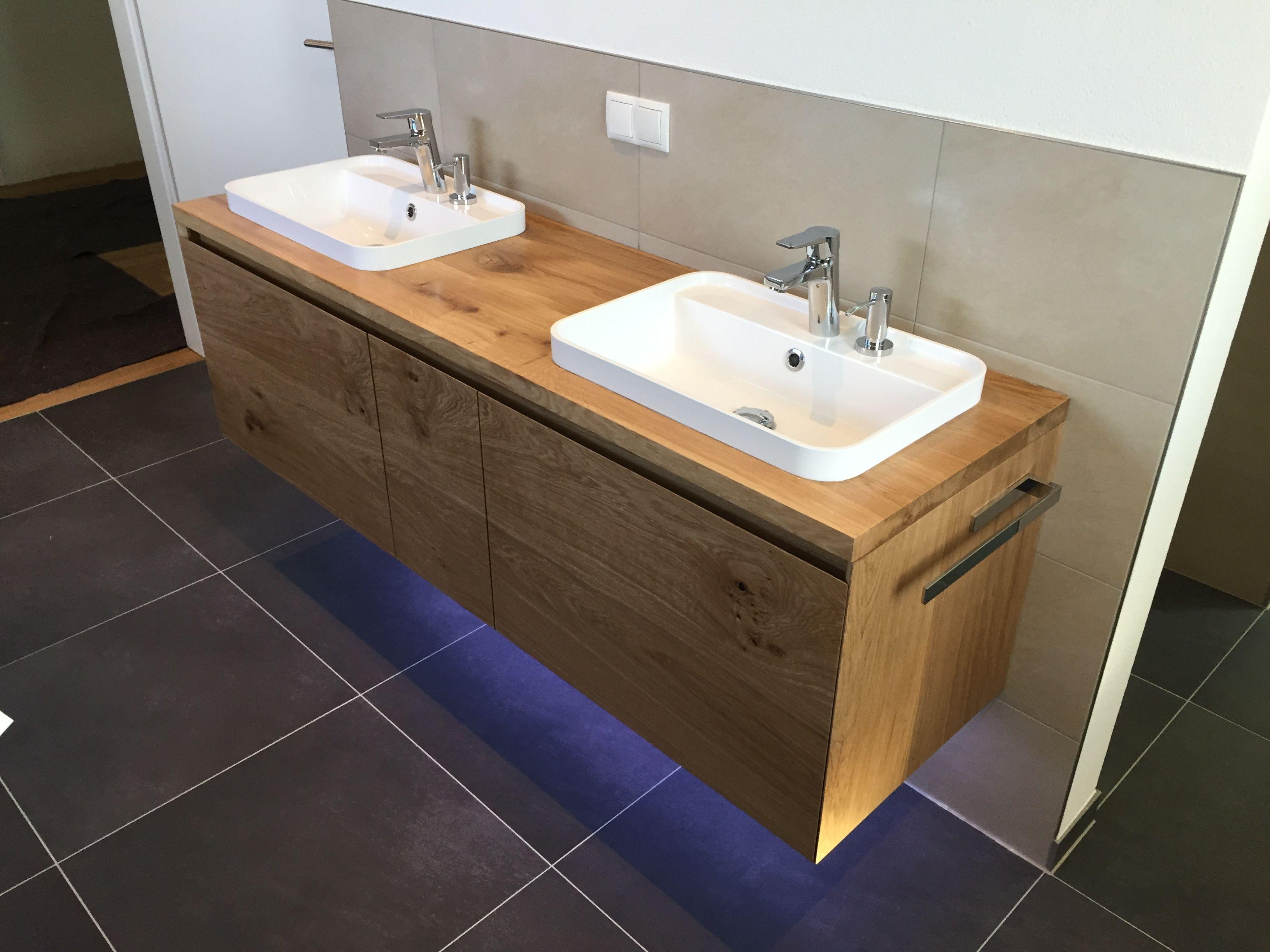 Echtholz Eiche Waschtischanlage Www One Bath De Badmobel Nach Mass