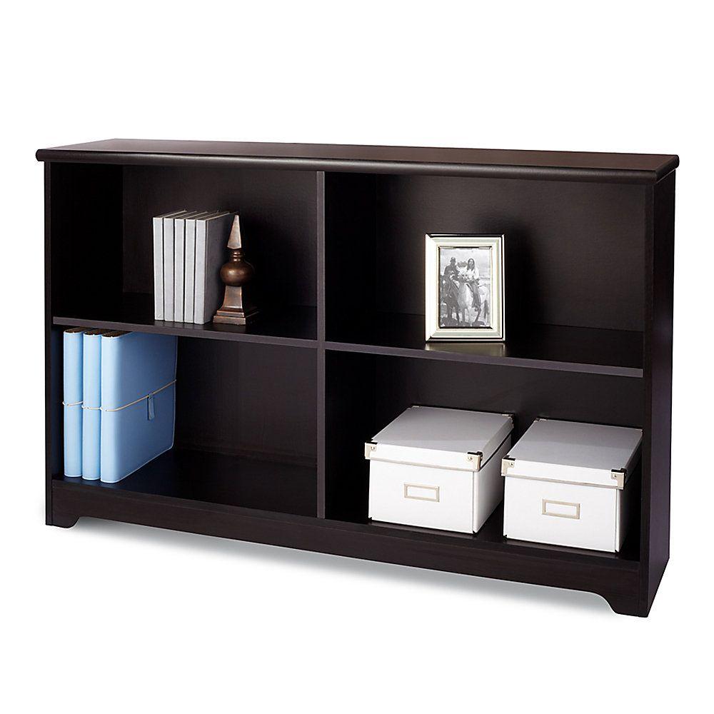 Realspace Magellan Collection 2 Shelf Sofa Bookcase Espresso Item 547947 Shelves Home Office Furniture Bookcase