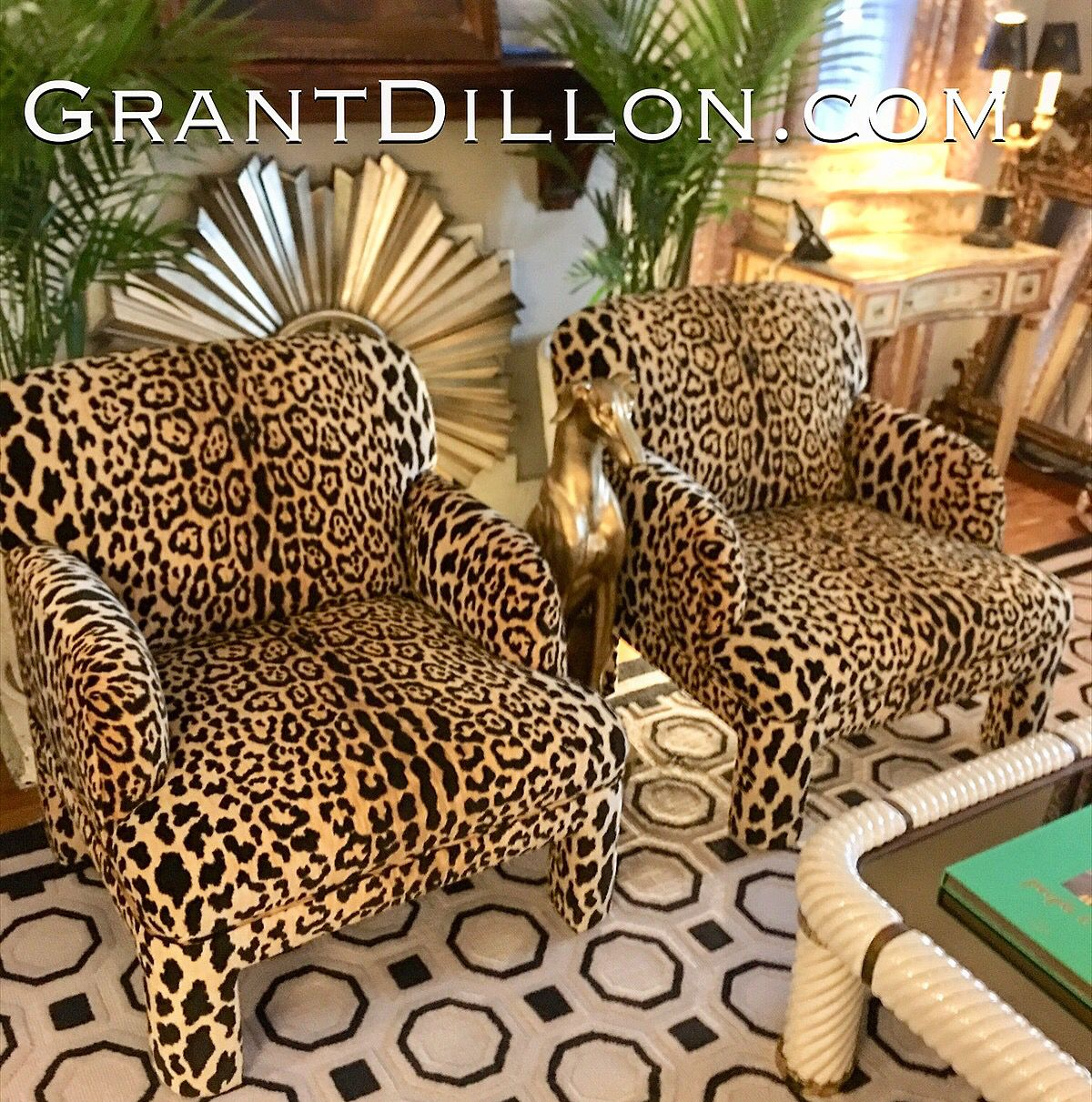 Braemore Leopard Velvet 70 S Deco Chairs Deco Chairs Chair