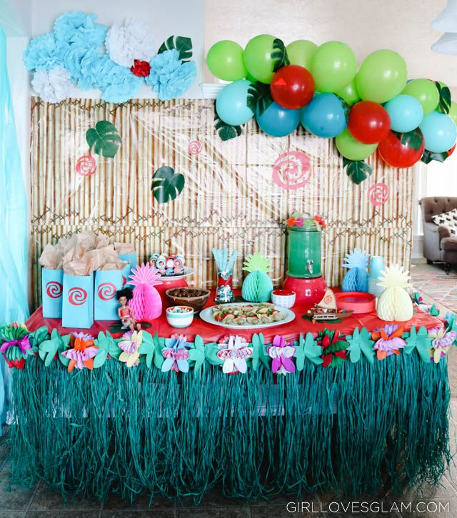 Moana Birthday Party Tropical Luau On Girllovesglam