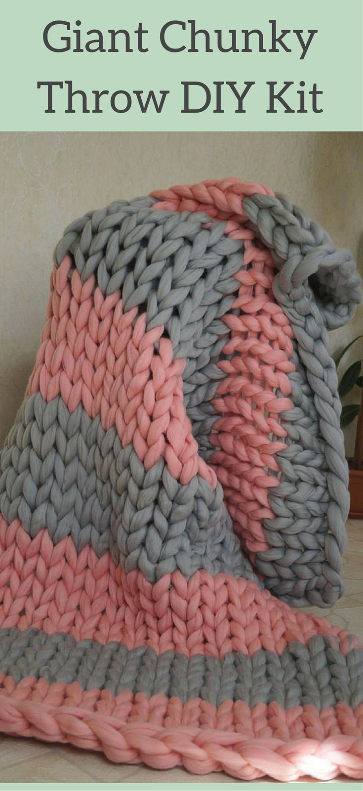 I want to make this!! DIY Giant Chunky Knit Blanket Knit