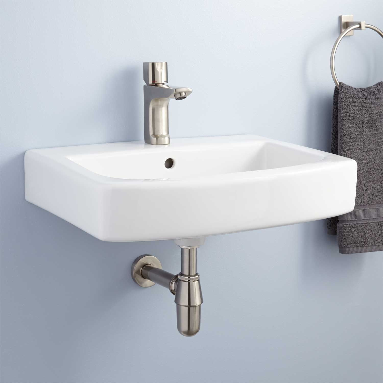 Medeski Porcelain Wall Mount Bathroom Sink Wall Mount Sinks