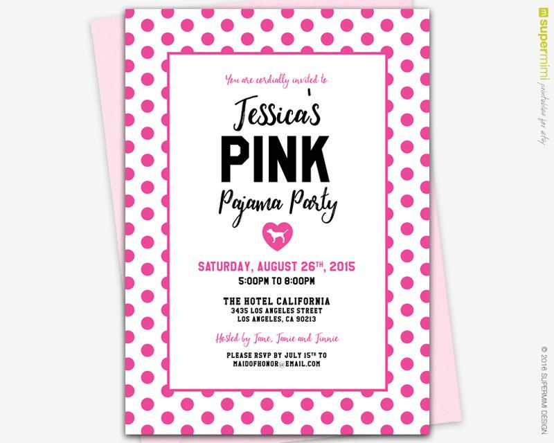 Victorias Secret Pink Invitation, Printable Victoria secret party ...