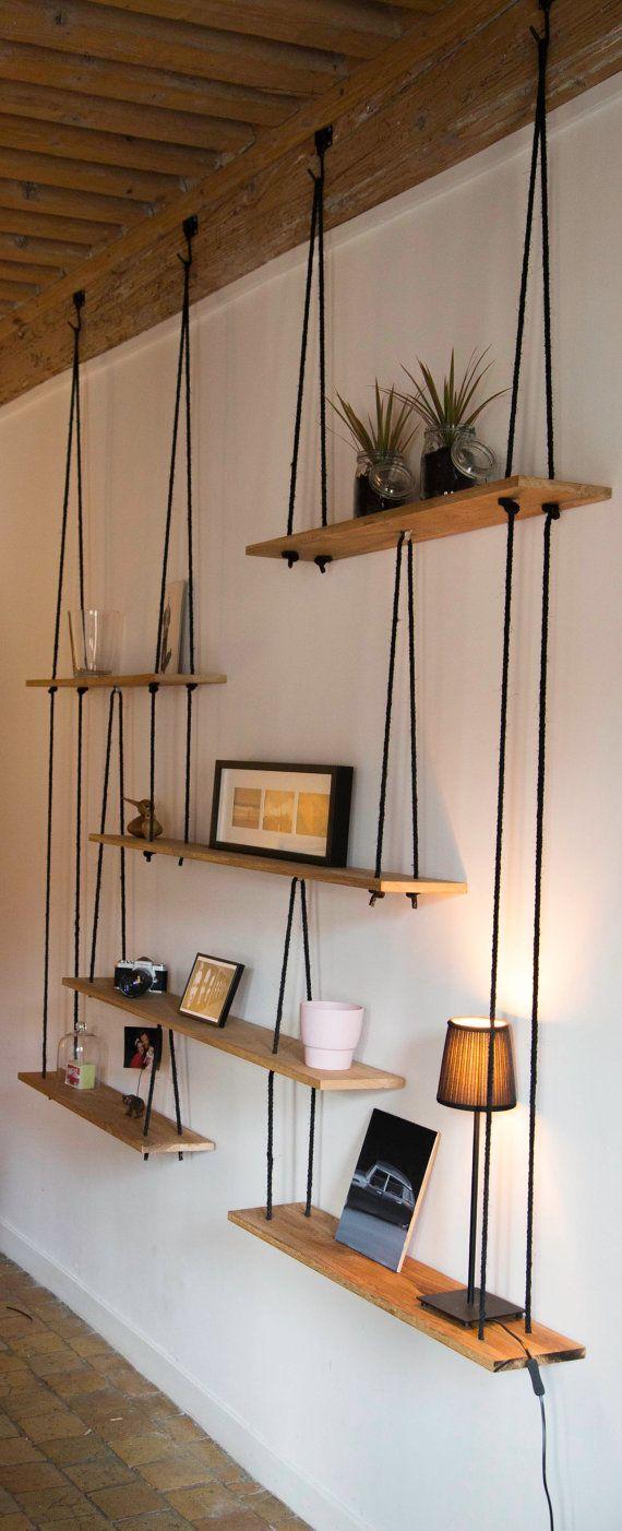 Suspended Shelves Hanging Shelves Etageres Suspendues Sur Mesure
