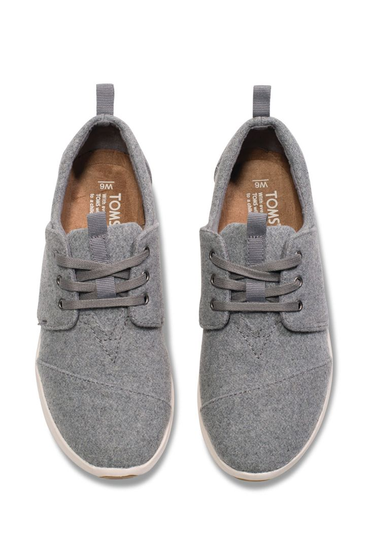 f87aad30267c Lace up some grey felt TOMS Del Rey Sneakers this autumn.