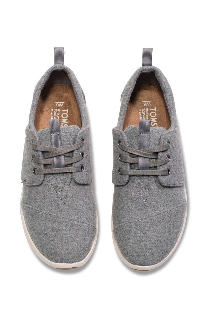 c0de6ba323 Lace up some grey felt TOMS Del Rey Sneakers this autumn.