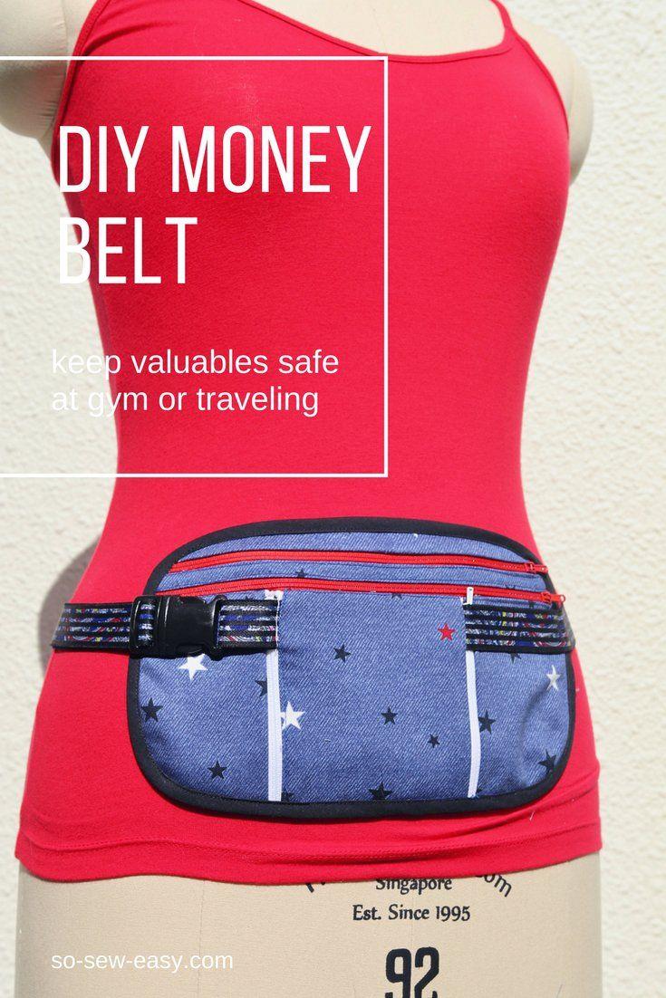 Running belt, travel belt or money belt with pouch- FREE pattern ...