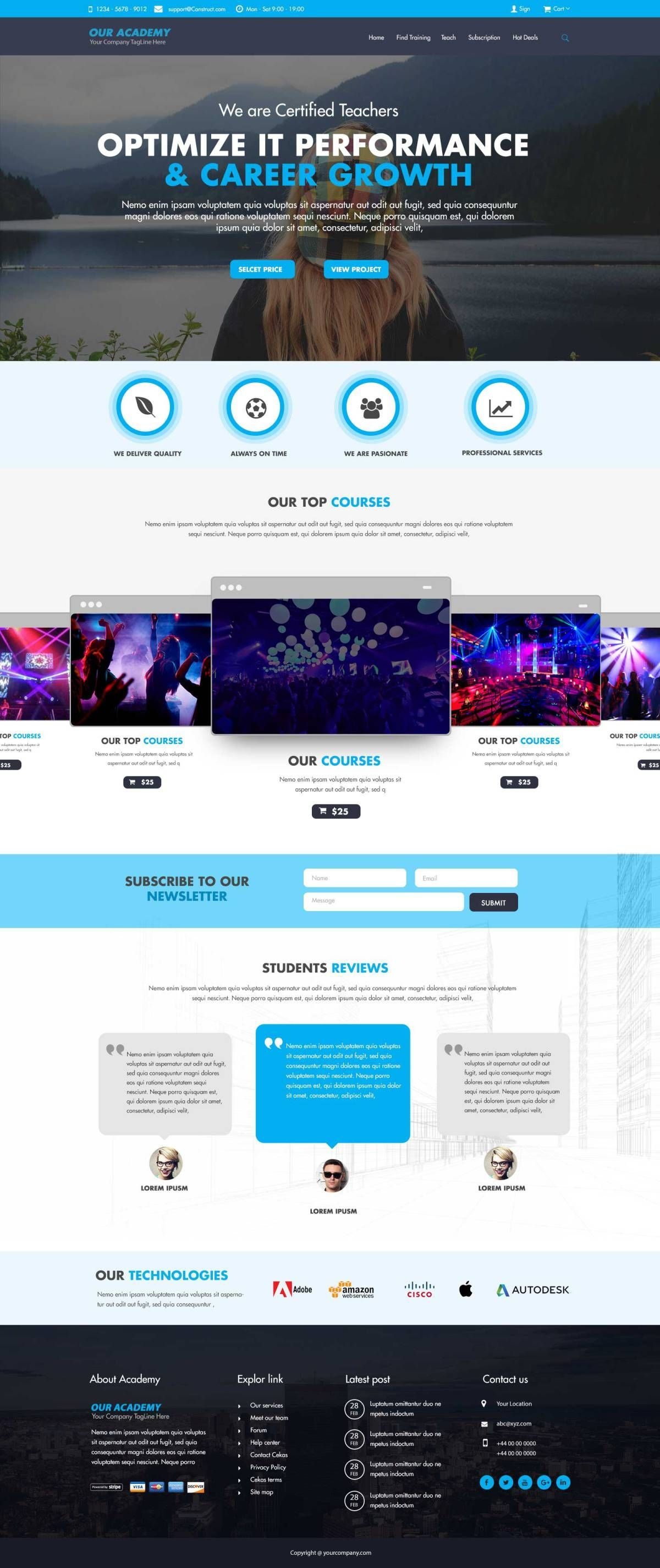Idesign Onepage Psd Template Free Web Template Psd Template Free Psd Templates