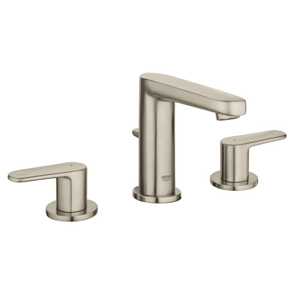 Grohe Europlus 8 In Widespread 2 Handle 1 2 Gpm Bathroom Faucet