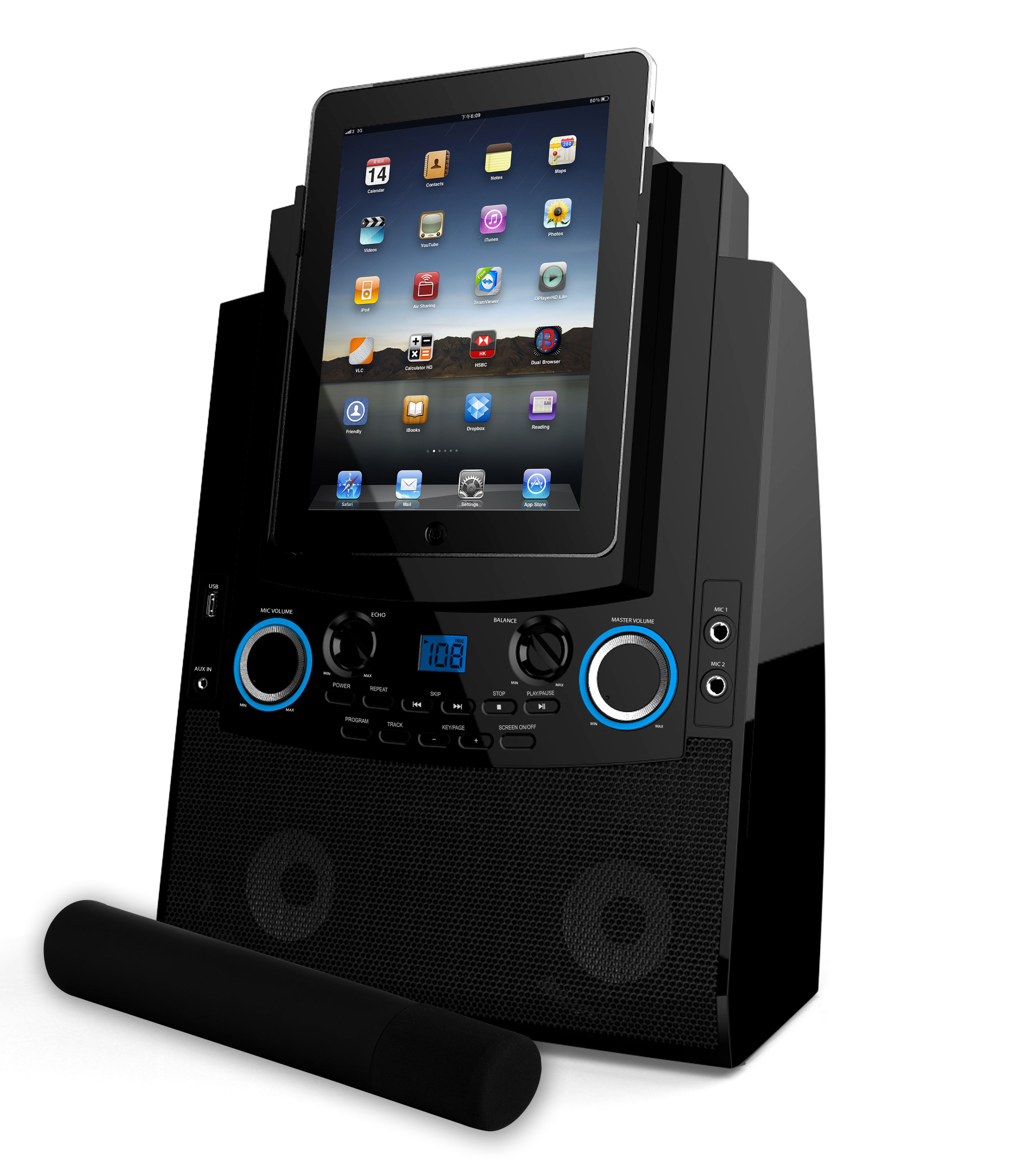 Go ahead and add 'Karaoke Player' to your iPads resume