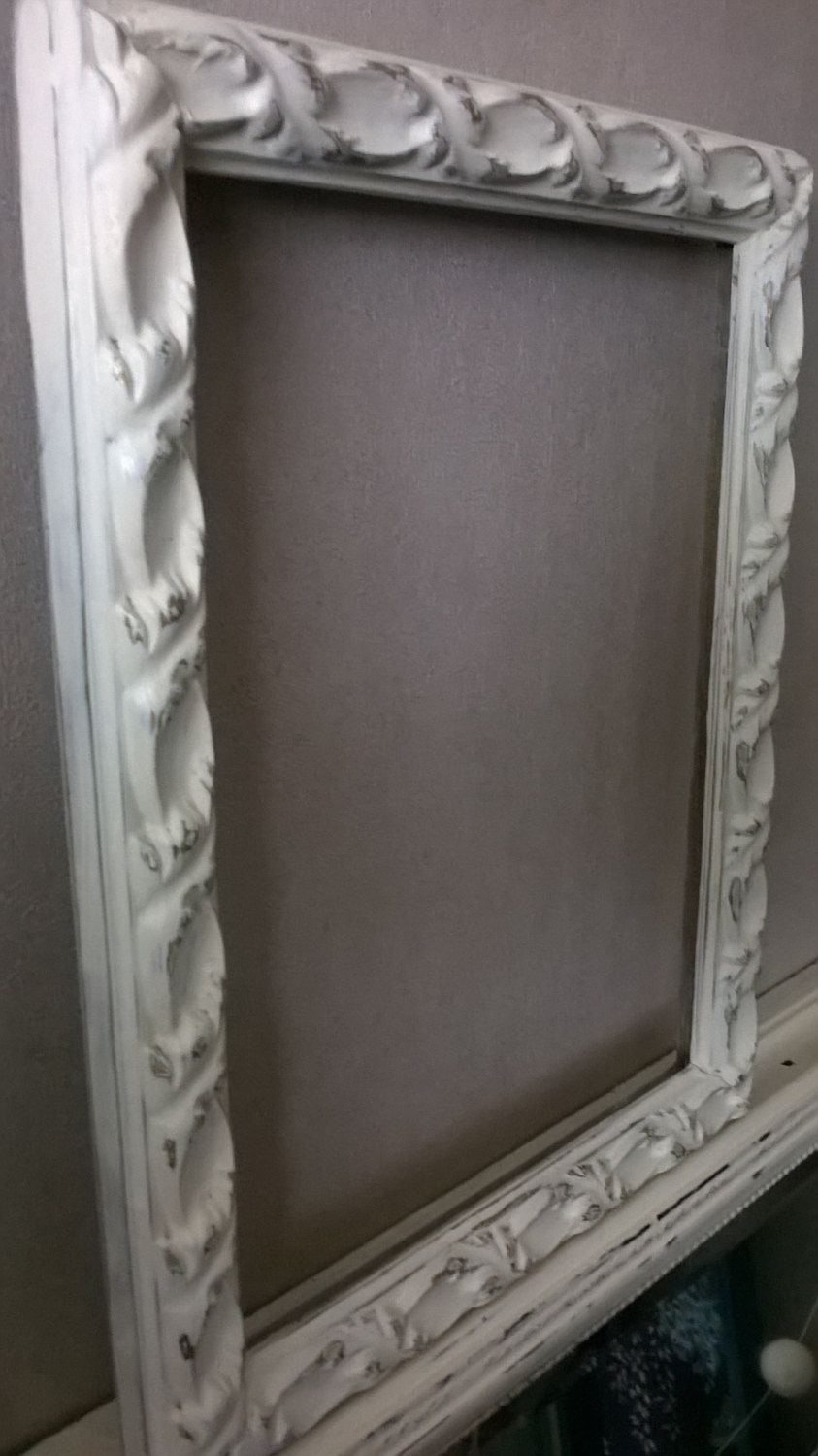 vintage ornate shabby chic ornate picture frame 22 x 28 cms clotted cream chalk paint art gallery wall wall decoration wedding