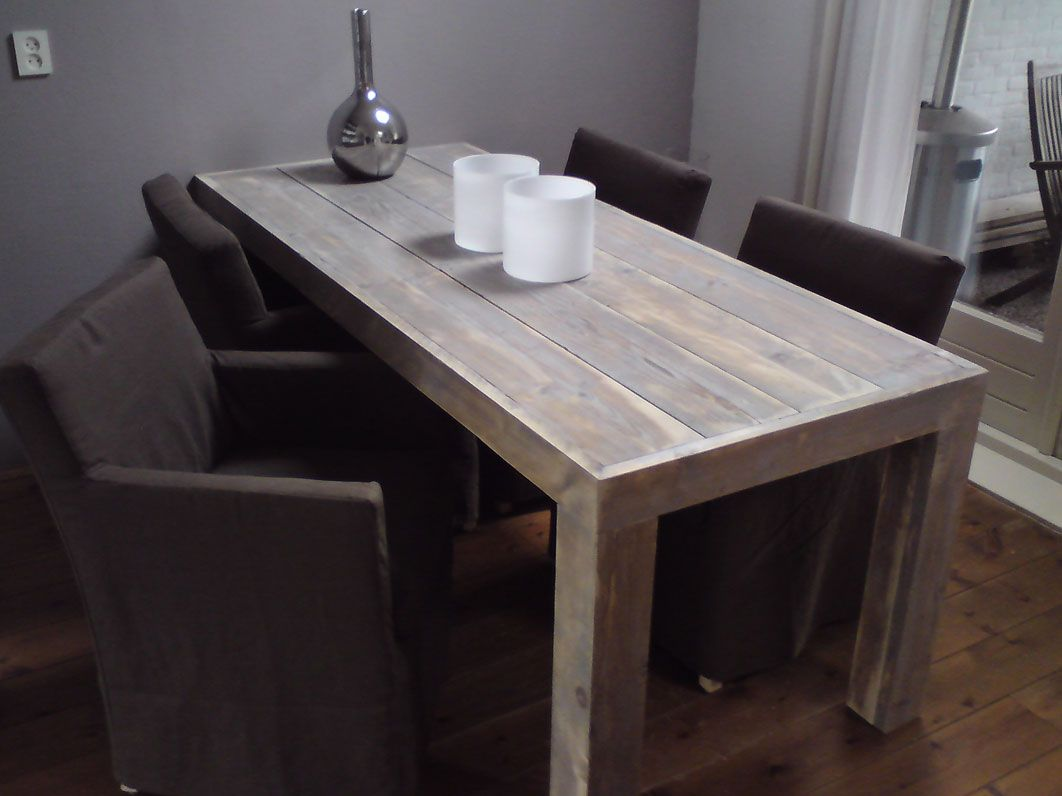 Eettafel steigerhout loungeset 2017 for Steigerhouten eettafel bank