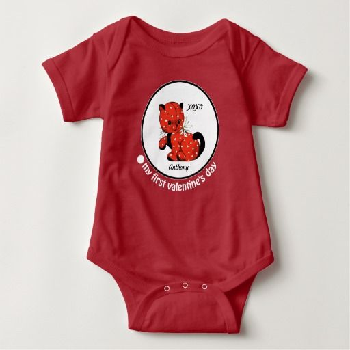 my first valentine's day. baby gift bodysuits, Ideas