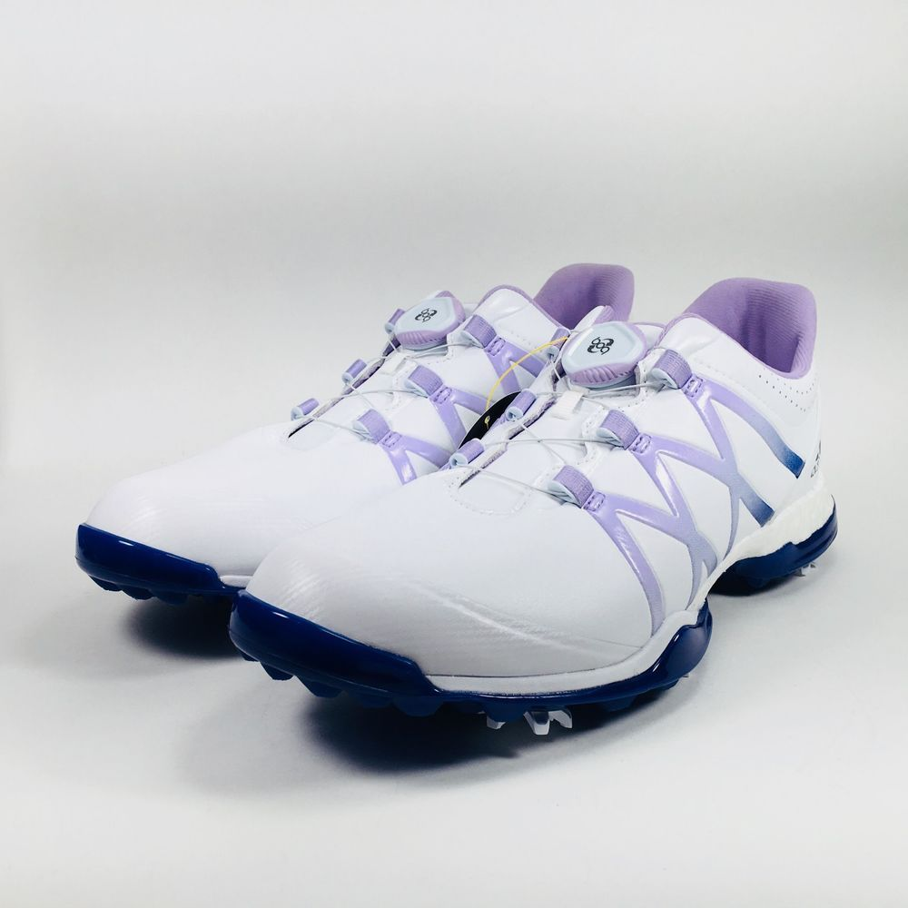 watch a653f 51039 Womens Adidas Adipower BOOST Boa Golf Shoe Q44921 White Purple Size 9  (eBay Link)