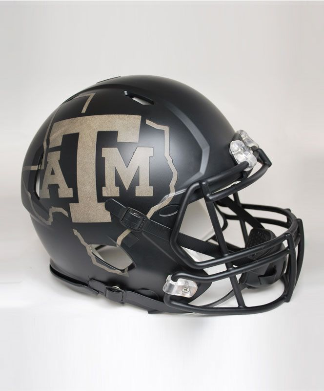 Aggie Nights Speed Authentic Helmet This Full Size Black Reflective Riddell Helmet Is The Helmet That Will Be Worn When Aggie Football Football Helmets Aggies