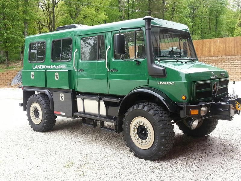 Unimog u1550l crew cab 4x4 expedition trucks pinterest for Mercedes benz unimog for sale