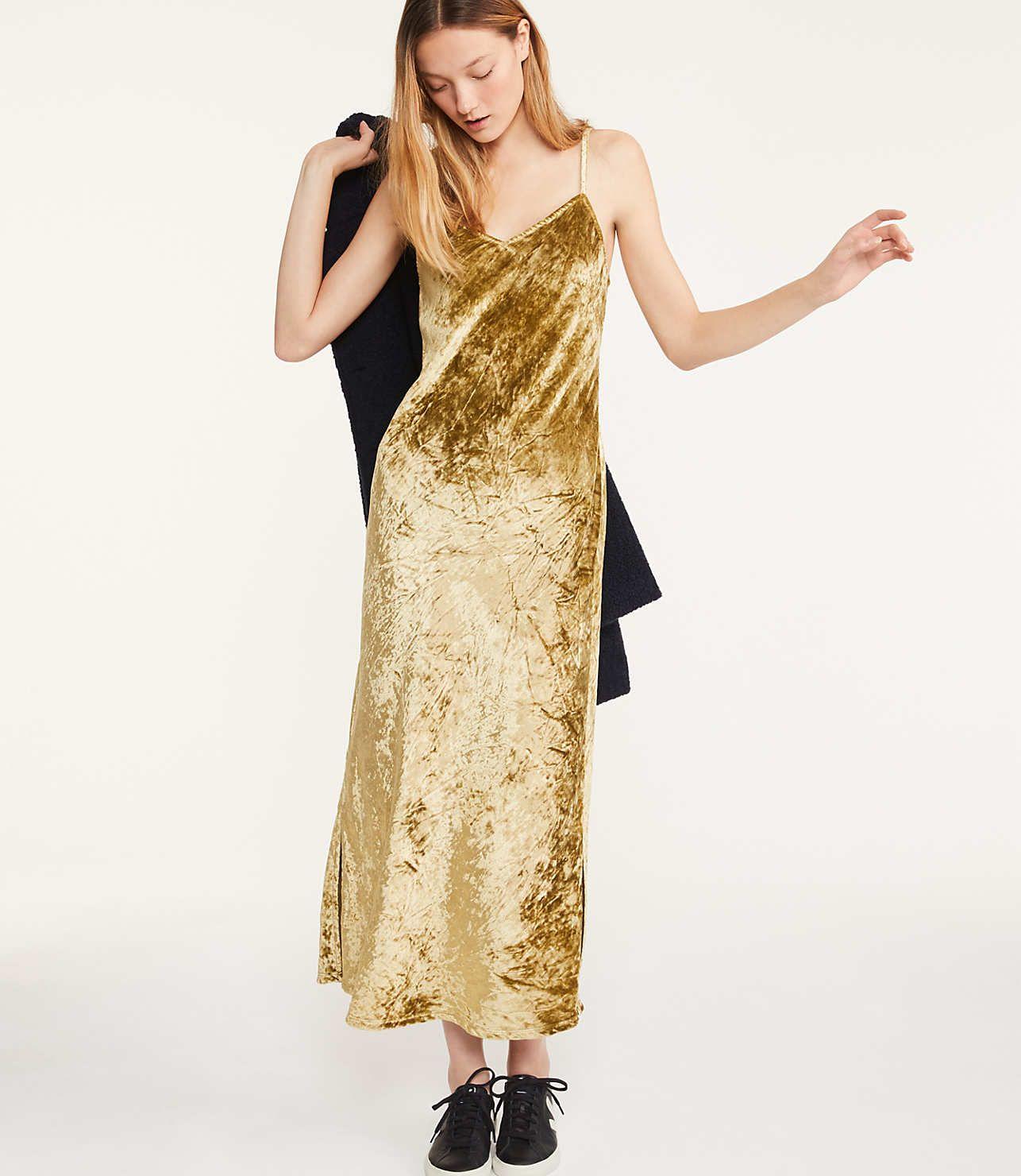 41f3c4e2b2f Lou   Grey Velvet Maxi Slip Dress