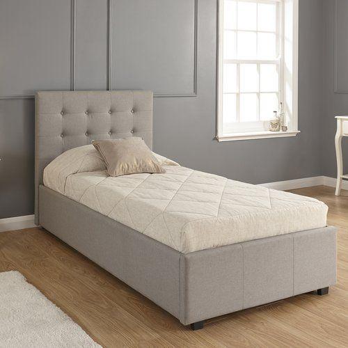 Aarav Upholstered Ottoman Bed Frame Mercury Row Size Single 3