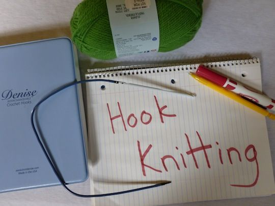 Hook Knitting Patterns : New * hook knitting practical fibers tutorial on the knook
