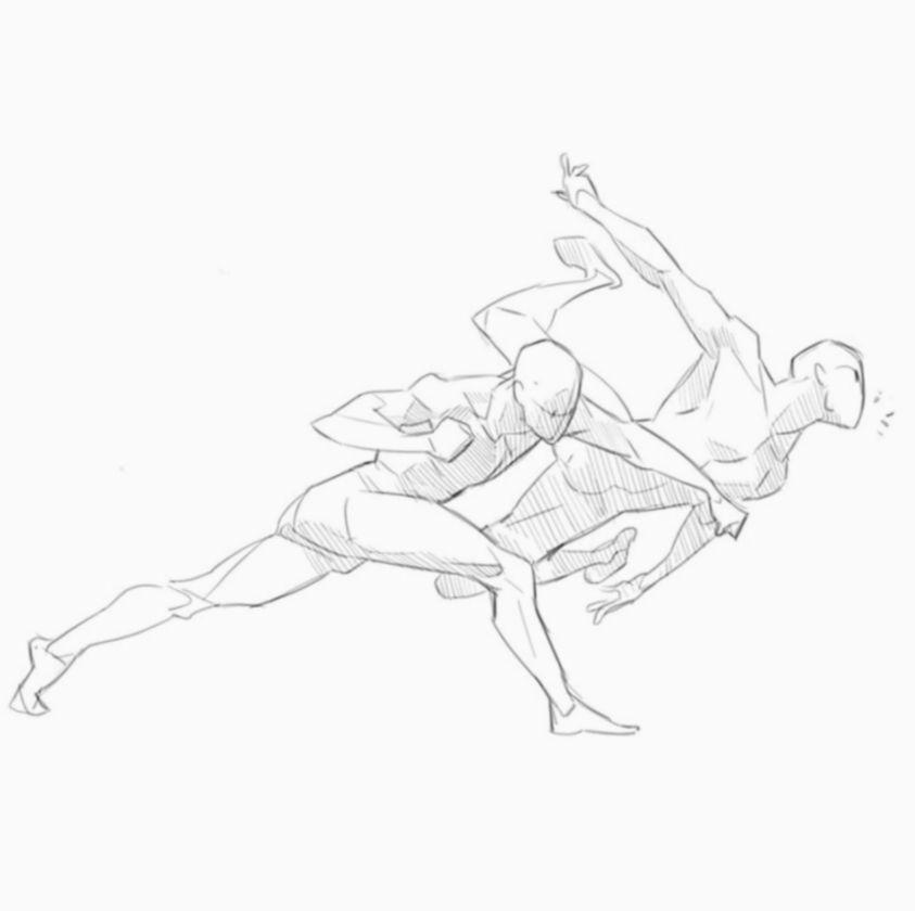 Anime Poses Fighting Anatomy Manga Animecosplay Mangacosplay In 2020 Anime Poses Art Reference Poses Figure Drawing Reference