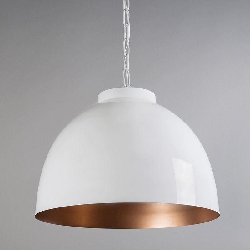 Lámpara colgante HOODI XL blanco cobre | Lámpara colgante, Colgantes ...